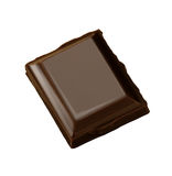 Chocolate bar. Dark chocolate bar macro isolated Stock Photo