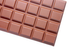 A chocolate bar. A chocolate bar on a white background Stock Photography