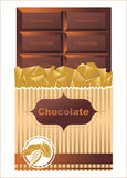 Chocolate bar. Over white background Royalty Free Stock Images