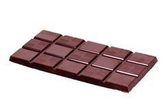 Chocolate bar. It is isolated on white Royalty Free Stock Photography