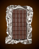 Chocolate bar. With foil wrapper Stock Photography