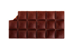 Chocolate bar. Dark chocolate bar isolated on white background vector illustration