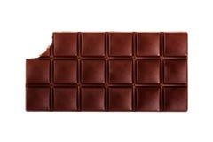 Chocolate bar. Dark chocolate bar isolated on white background Royalty Free Stock Images