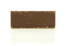 Chocolate Bar. A photo of a chocolate bar over a white background Royalty Free Stock Photo