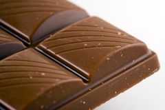 Chocolate Bar. Corner of a chocolate bar Royalty Free Stock Photography