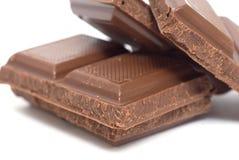 Chocolate bar. Isolated on white Royalty Free Stock Photo