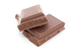 Chocolate bar. Isolated on white Stock Photography