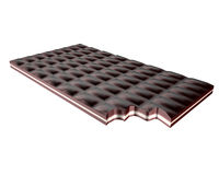 Chocolate bar. Isolated object of an isolated choclate bar Stock Image