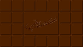 Chocolate. Bar of the big size, rectangular shape Royalty Free Stock Photography