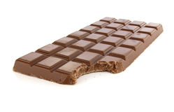 Chocolate Bar Bite Stock Image