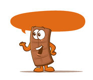 Chocolate Bar Character. Illustration of a talking candy bar Stock Photography