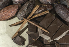 Chocolate bar crushed Stock Photography