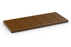 Chocolate bar - 3d rendered illustration Royalty Free Stock Photos
