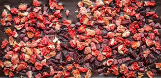 Chocolate bar with dried berries Royalty Free Stock Photography
