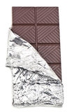 Chocolate bar in foil Royalty Free Stock Photography