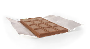 Chocolate bar in foil Royalty Free Stock Photos