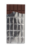 Chocolate Bar in foil isolated on white. Background Stock Photo
