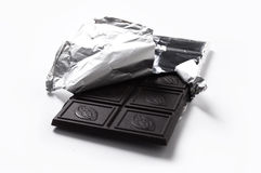Chocolate bar in foil Stock Image