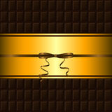 Chocolate bar and gold border Stock Photography
