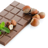 Chocolate Bar with hazelnuts Royalty Free Stock Photography