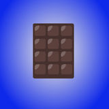 Chocolate bar icon, modern minimal flat design style, vector illustration. Dark Chocolate bar icon, modern minimal flat design style, vector illustration Stock Photos