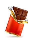 Chocolate bar illustration Royalty Free Stock Photography
