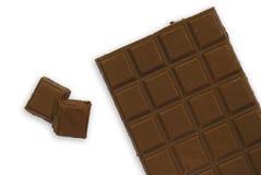 Chocolate bar isolated Stock Photos