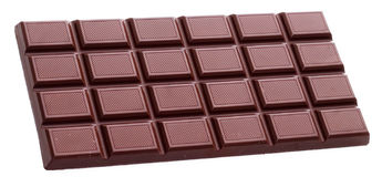 Chocolate bar isolated Royalty Free Stock Photos
