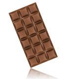 Chocolate bar isolated on white background.  Royalty Free Stock Photo