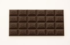 Chocolate Bar Isolated on White Background Royalty Free Stock Photography