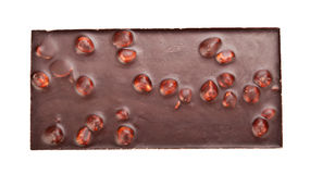 Chocolate bar with nuts Stock Photos