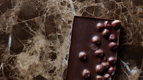 Chocolate bar with nuts Stock Photography