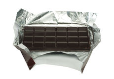 Chocolate bar in packaging Stock Photos