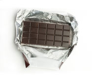 Chocolate bar in packaging Royalty Free Stock Image