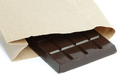 Chocolate bar in packaging Stock Photo