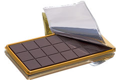 Chocolate bar in packaging Stock Images