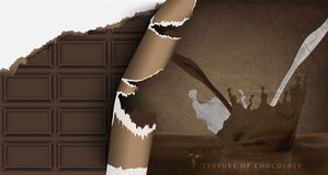 Chocolate bar in paper packaging Royalty Free Stock Photo