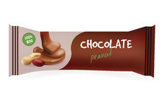 Chocolate Bar with Peanut.  Royalty Free Stock Image