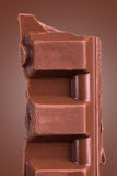 Chocolate Bar Piece Stock Images