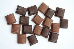 Chocolate bar pieces Stock Photography