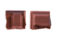 Chocolate Bar Pieces Stock Photos