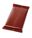 Chocolate Bar In Plastic Wrapping Stock Photography