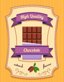 Chocolate bar poster Stock Images