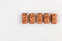 Chocolate bar set. Isolated royalty free stock photography
