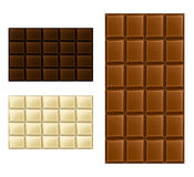 Chocolate bar set Stock Photography
