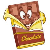 Cartoon chocolate bar Royalty Free Stock Photo