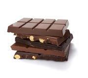 Chocolate bar sweet desseret sugar food Stock Images
