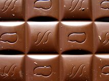 Chocolate bar texture Royalty Free Stock Photos