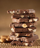 Chocolate Bar Tower Royalty Free Stock Photo