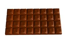Chocolate bar on white Royalty Free Stock Photo